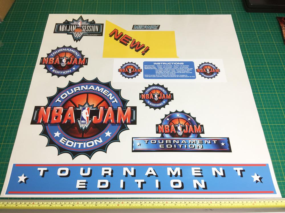 NBA Jam Tournament Edition sticker set