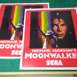Michael Jackson's Moonwalker die-cut side art