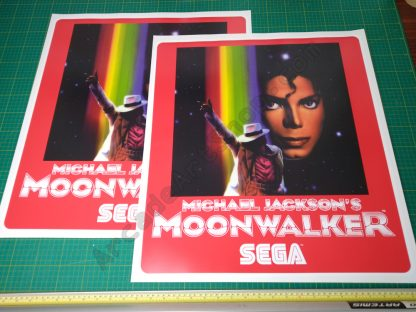 Michael Jackson's Moonwalker die-cut side art