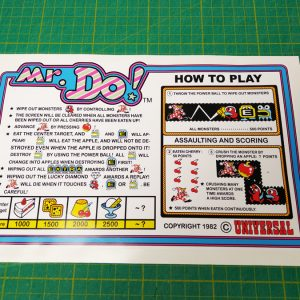 Mr Do! instruction decal