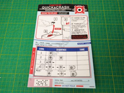Quick and Crash instruction decal