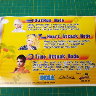 OutRun 2 sp dlx instruction decal 422-0932-01DUK