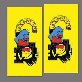 Pac-Man side art pair