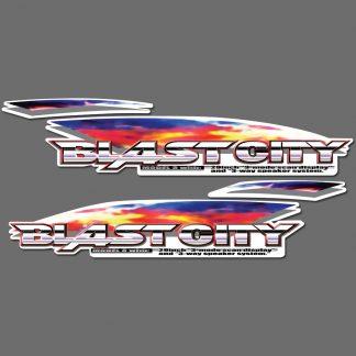Sega blast city side art decals set