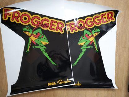 Frogger side art pair