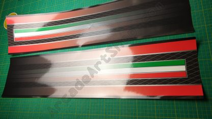 outrun 2 silver foil base sides pair