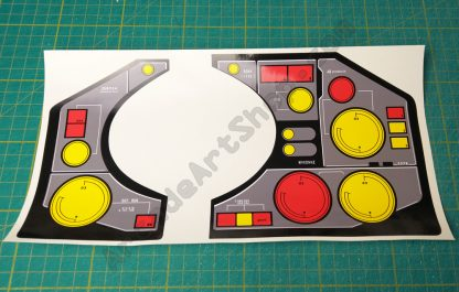 Thunderblade control panel dash decals