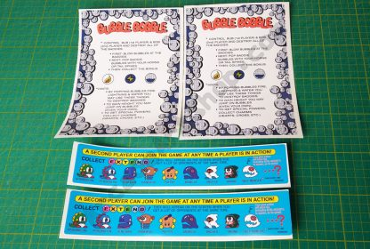 bubble bobble instruction decal set
