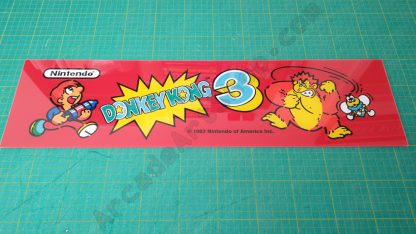 donkey kong 3 plexi marquee
