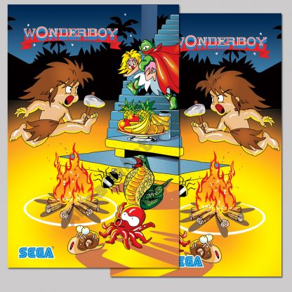 Sega Wonderboy side art pair