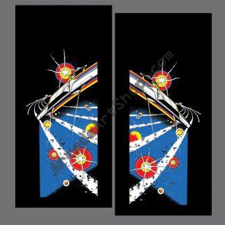 asteroids side art pair