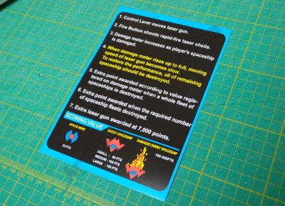 radarscope instruction card