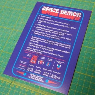 space demon instruction card