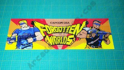 Forgotten Worlds perspex marquee