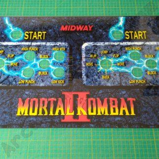 mortal kombat 2 cpo MKII perspex control panel
