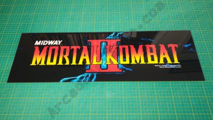 Mortal Kombat 2 perspex marquee