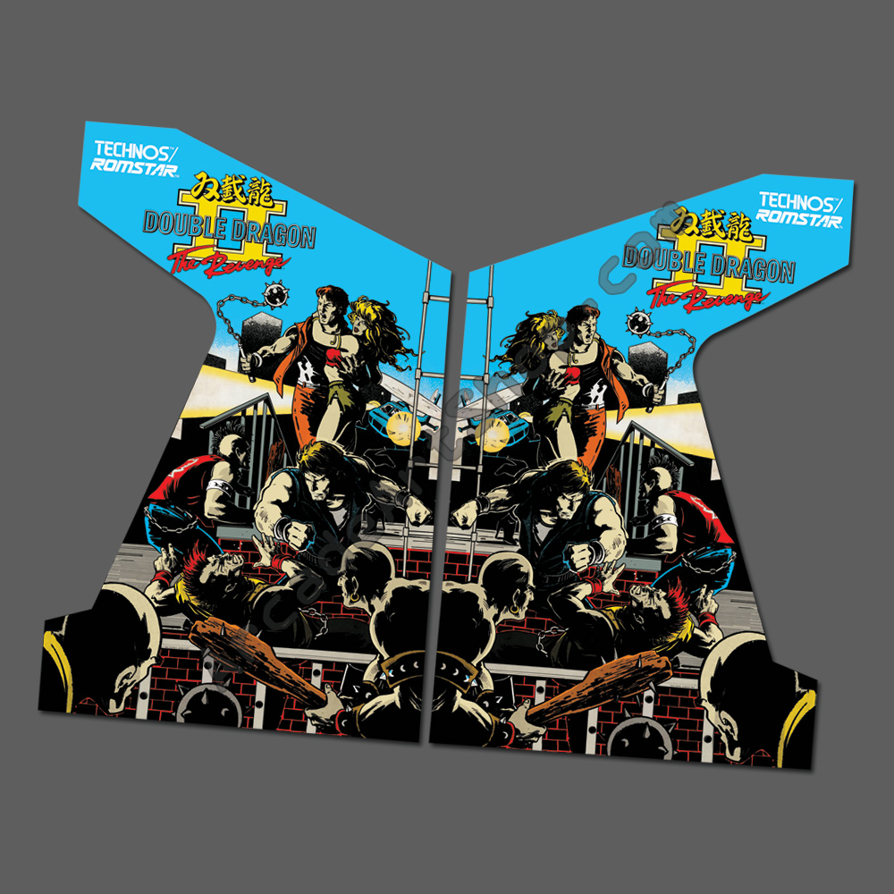 Double Dragon 2 Side Art Pair Arcade Art Shop