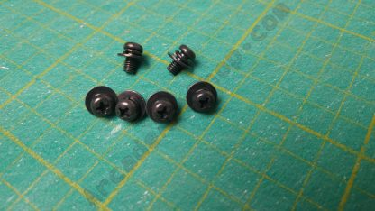 m4x8mm black pan head screw w/washer