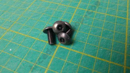 m5x12mm security torx black screw