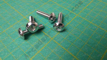 m6x25mm security torx screw chrome