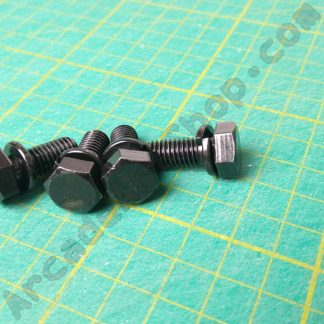 m8x20mm black bolt with washer