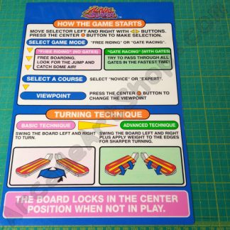 nos original alpine surfer instruction decal
