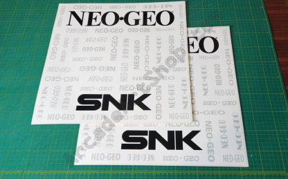 snk neo geo nos original side art pair white