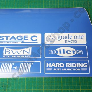 nos original sega rally seat lower decal