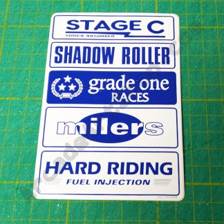 nos original sega rally seat side logos