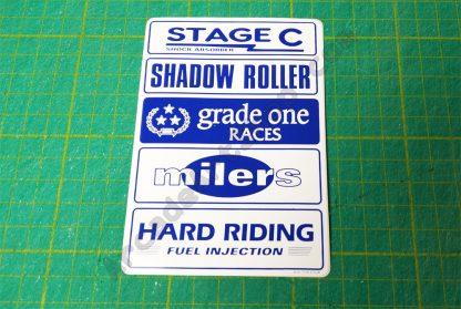 nos original sega rally seat side logos