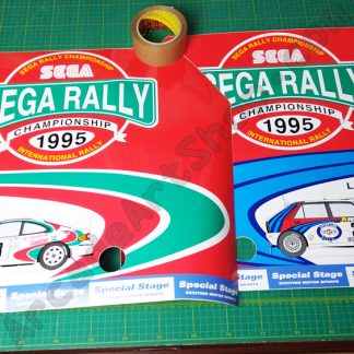 nos original sega rally side art pair