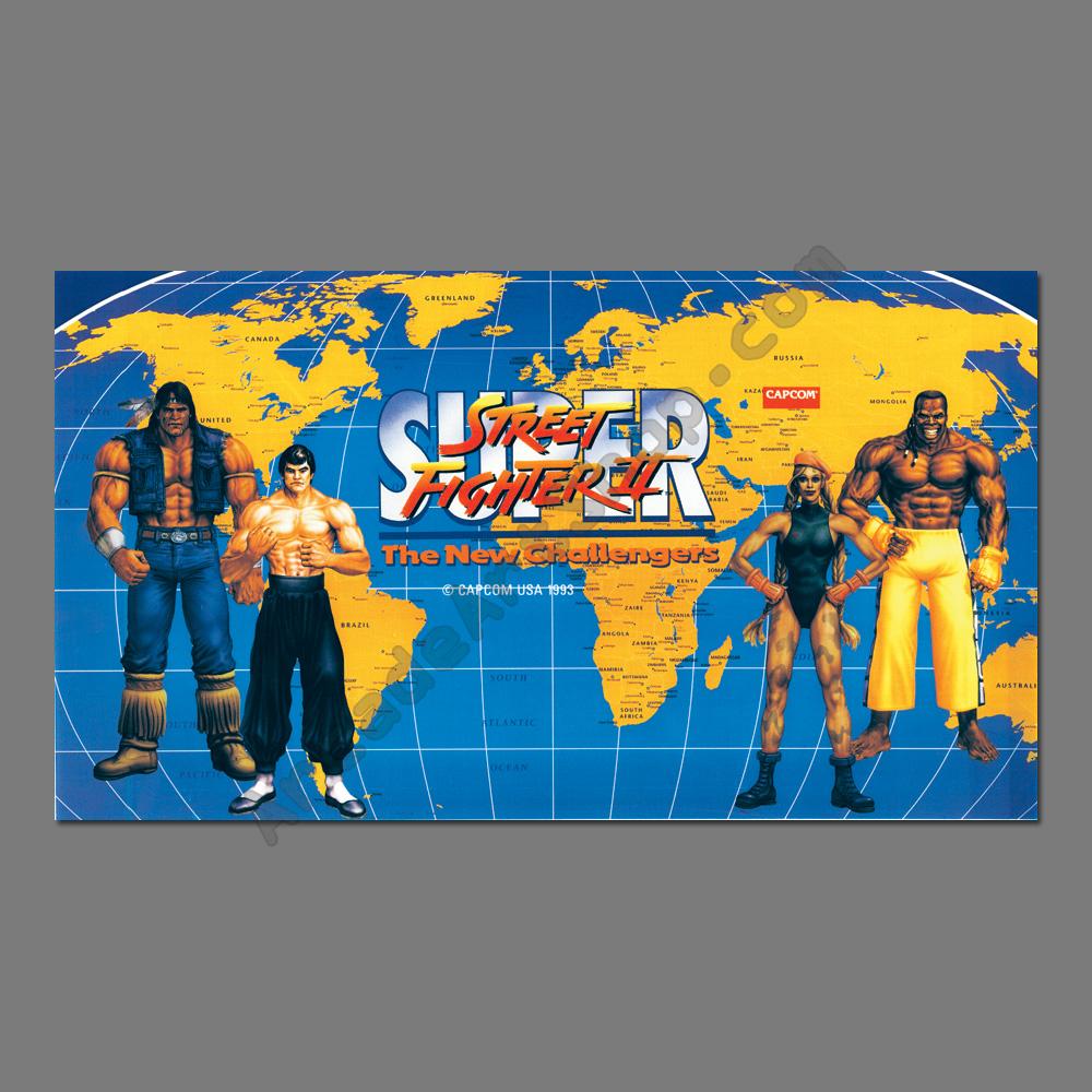 street fighter 2 arcade stickers