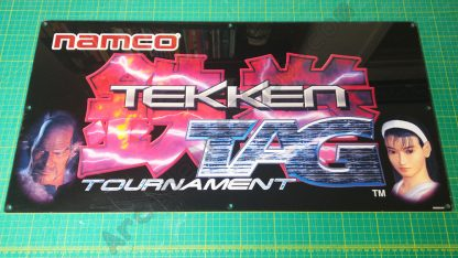 Tekken Tag Tournament original perspex marquee