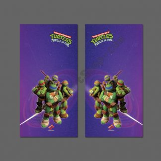 turtles in time side art