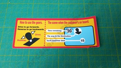 crazy taxi dash instruction decal