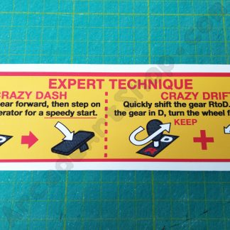 crazy taxi expert technique decal