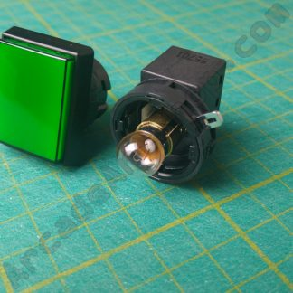 rectangle pushbutton sega green