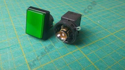 rectangle pushbutton sega green