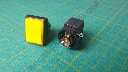 rectangle yellow pushbutton sega