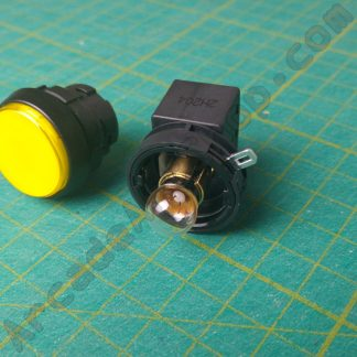round yellow pushbutton sega