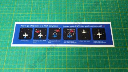 space demon instruction sticker below bezel