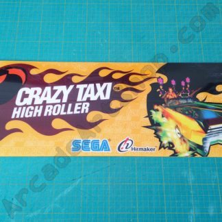 crazy taxi high roller seat sticker nos