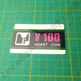 astro city 100 yen insert coin lexan decal
