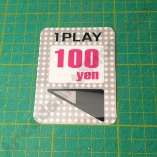 egret II 1 play 100 yen sticker