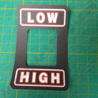 low high shifter decal lexan