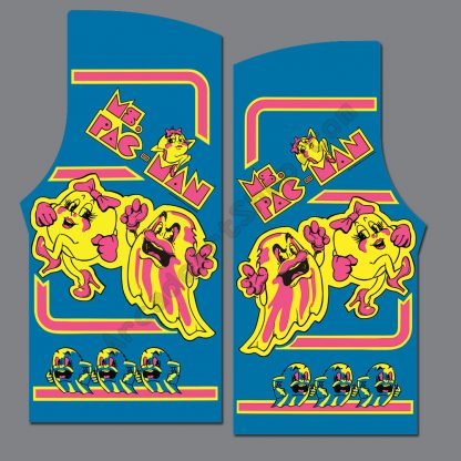 ms pacman side art pair