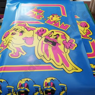 ms pacman miss pac-man side art set