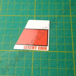 naomi sega insert coin polycarbonate decal