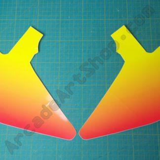 nos manx tt line pair orange pink TTR-3055