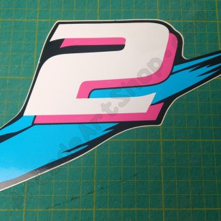 nos manx tt number 2 decal